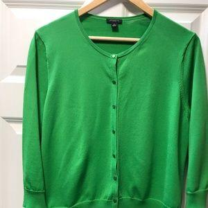 Ann Taylor XL apple green cardigan